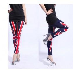 Calça Legging feminina estilo Europeu bandeira Reino Unido