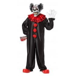 Fantasia Masculina Palhaço de Terror Festa Halloween Carnaval