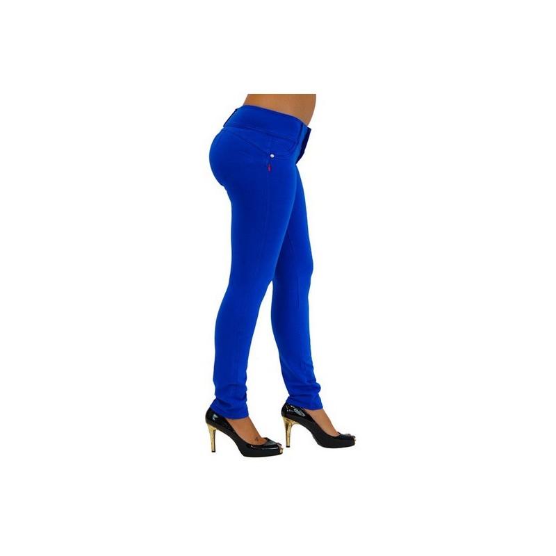 Calça Skinny Feminina Colorida Azul
