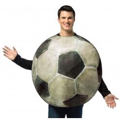 Fantasia Masculina Bola de Futebol  Festa Halloween Carnaval