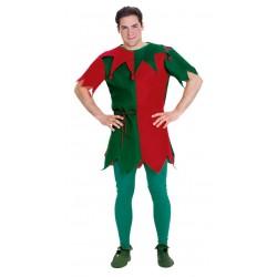 Fantasia Masculina Elfo Ajudante do Papai Noel Festa Halloween Carnaval