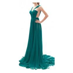 Vestido Festa Longo Verde