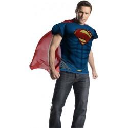 Fantasia Masculina Camiseta Superman Halloween Carnaval Festa