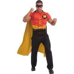 Fantasia Masculina Camiseta Robin Halloween Carnaval Festa