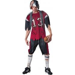 Fantasia Masculina Zumbi Jogador de Futebol Festa Halloween Carnaval a22f8c726ba