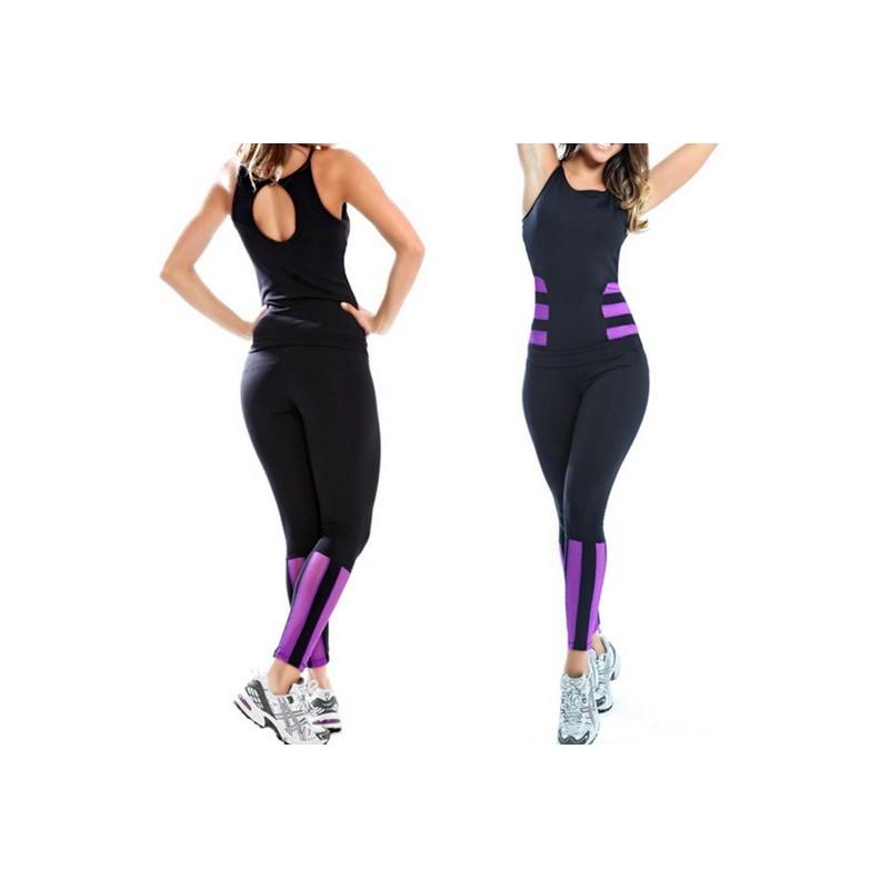 Conjunto Feminino Calça e Blusa moda Fitness Suplex