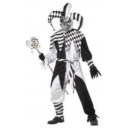 Fantasia Masculina Bobo da Corte do Mal Festa Halloween Carnaval