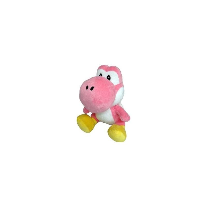 Boneco de Pelúcia Yoshi R osa Super Mario Nintendo