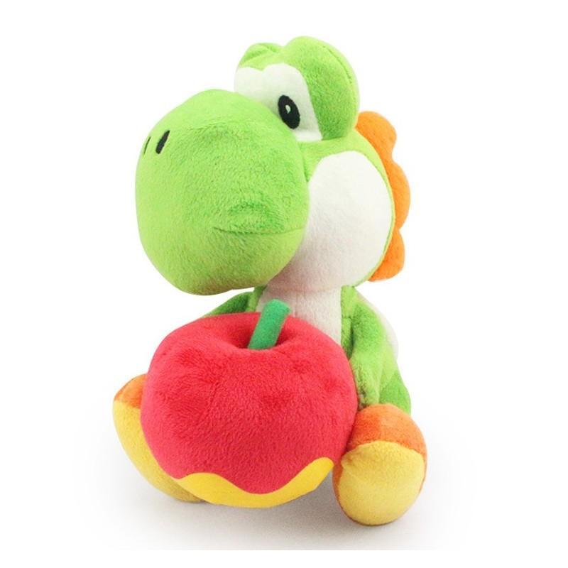 Boneco de Pelúcia Yoshi Verde com a Maça Super Mario Nintendo