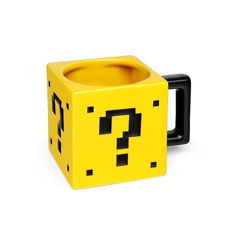 Caneca Quadradinho Surpresa Super Mário Nintendo Presente Geek