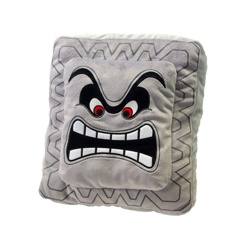 Boneco de Pelúcia Super Mario Thwomp Bloco de Pedra Nintendo