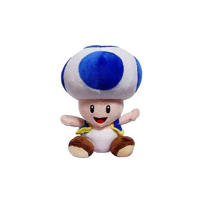 Boneco de Pelúcia Toad Azul Super Mário Nintendo