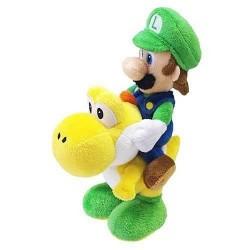 Boneco de Pelúcia Luigi montado no Yoshi Personagens Super Mário Nintendo