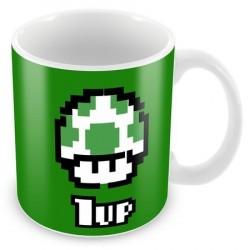Caneca de Café Super Mário 1 UP Verde