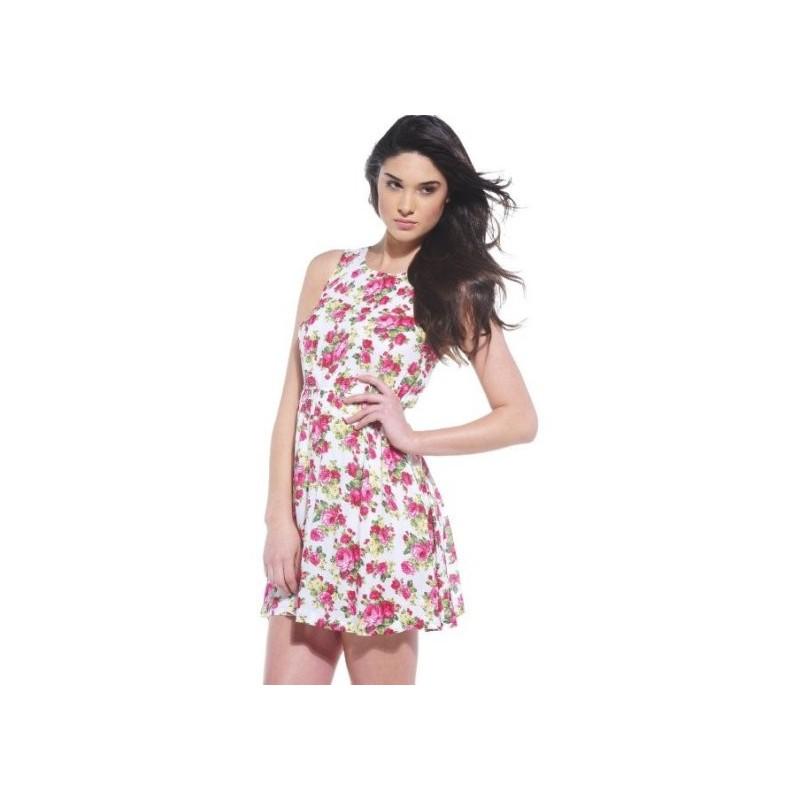 Vestido Casual Estampado Floral Curto