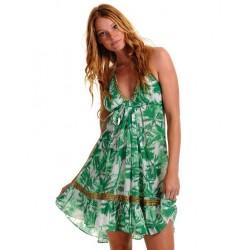 Vestido Casual Estampado Floral de Chiffon