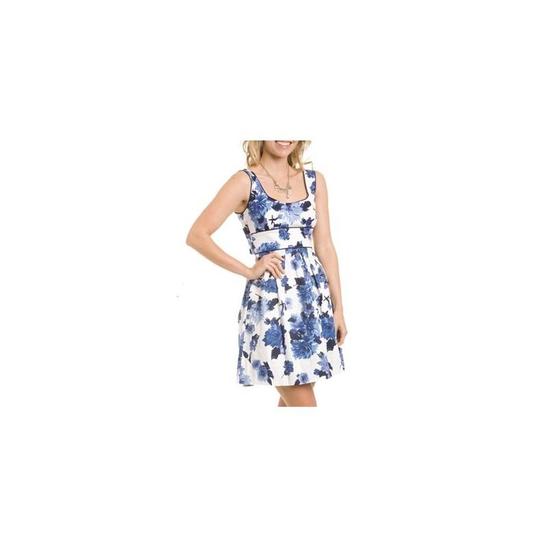 Vestido Estampado Floral Azul Curto Importado