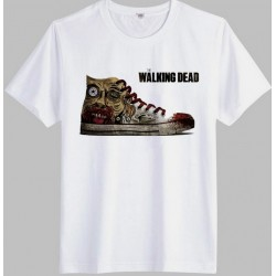 Camiseta Masculina Tênis The Walking Dead Branca