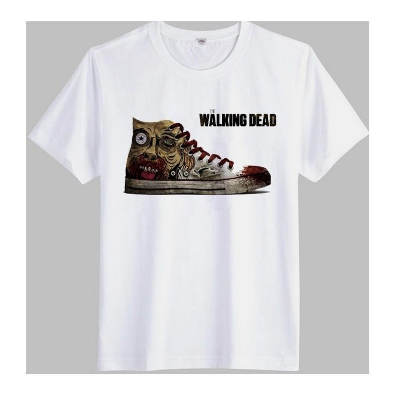 Camiseta Masculina Tênis The Walking Dead Branca