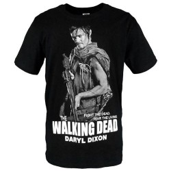 Camiseta Masculina The Walking Dead Daryl Dixon Preta