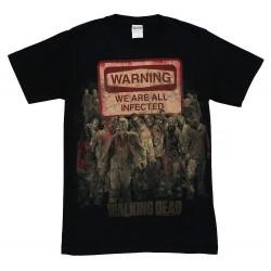 Camiseta Masculina The Walking Dead 100% Algodão Preta