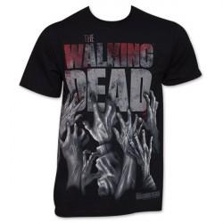 Camiseta Masculina Série The Walking Dead 100% Algodão Preta