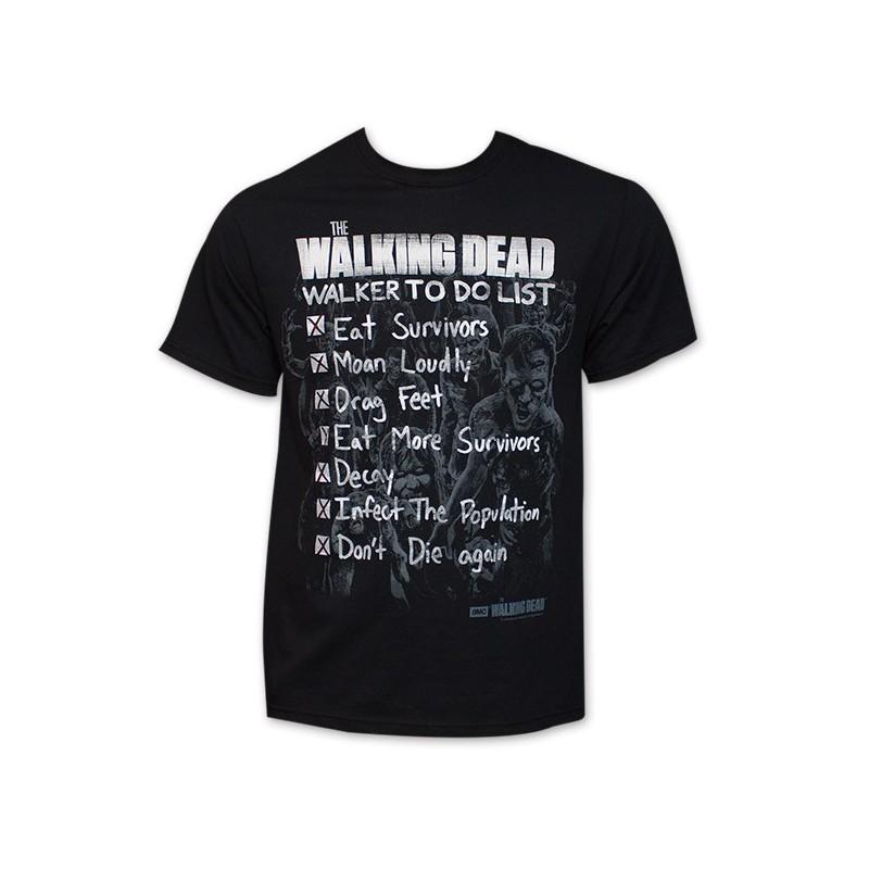 Camiseta Masculina Série The Walking Dead Preta