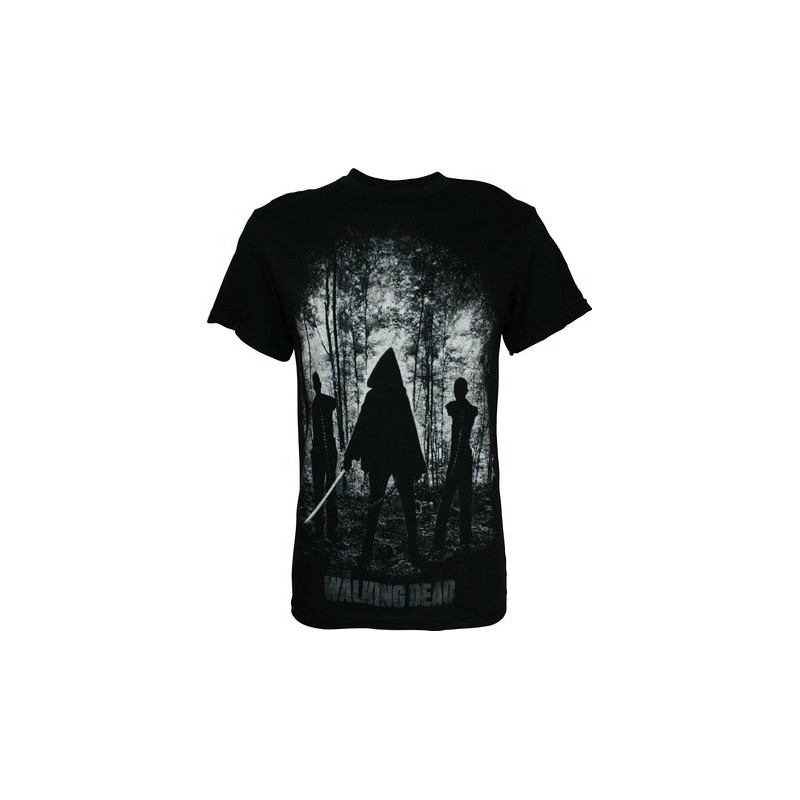 Camiseta Masculina Série The Walking Dead Michonne