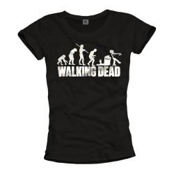 Camiseta Feminina Série The Walking Dead Zumbi Preta