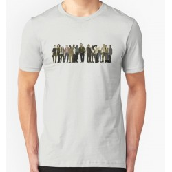 Camiseta Masculina Série The Walking Dead Cinza