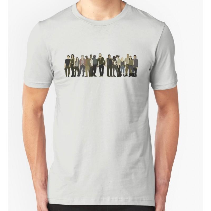 Camiseta Masculina Série The Walking Dead Cinza