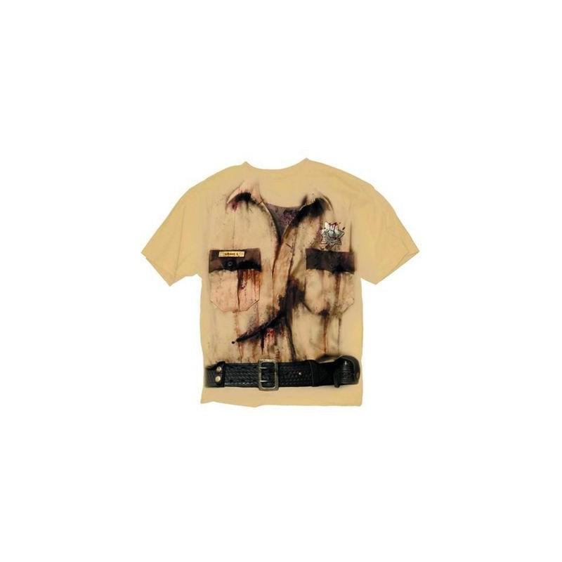 Camiseta Masculina Série The Walking Dead Roupa Rick Grimes