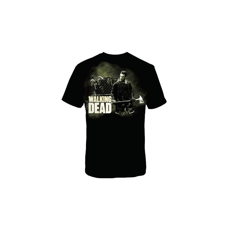 Camiseta Masculina Série The Walking Dead Rick Grimes