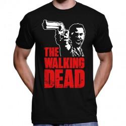 Camiseta Masculina Preta Série The Walking Dead Rick Grimes