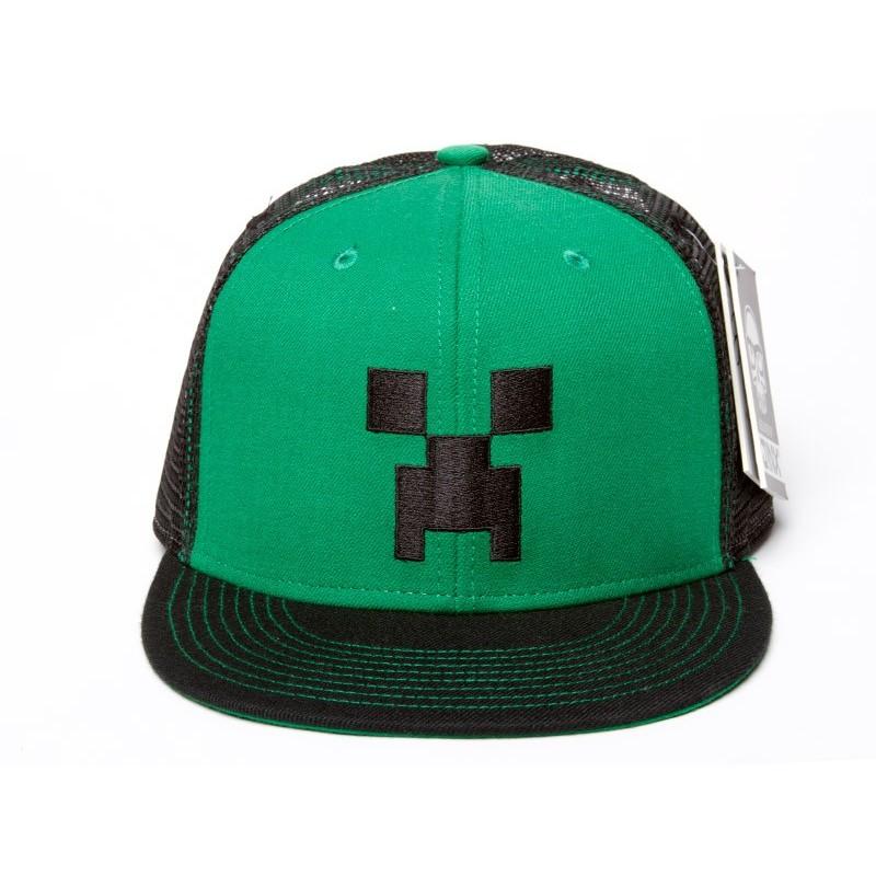 Boné Minecraft Verde Premium
