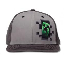Boné Meninos Jogo Minecraft Cinza Aba Reta