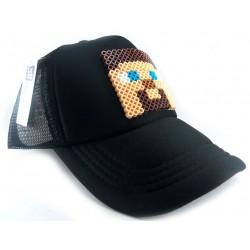 Boné Meninos Jogo Minecraft Preto Aba Reta
