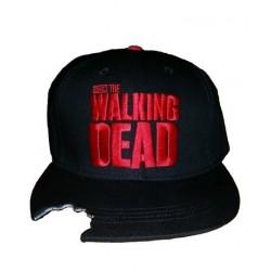 Boné Série The Walking Dead Preto com Mordida na Aba Preto