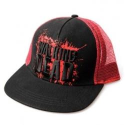 Boné Trucker Série The Walking Dead Preto e Vermelho