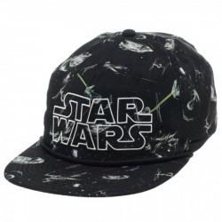 Boné Saga Star Wars Naves Aba Reta Preto