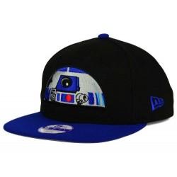 Boné Saga Star Wars R2D2 Aba Reta Preto e Azul