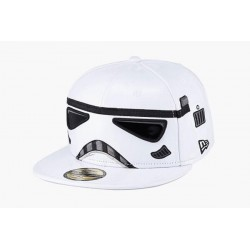 Boné Saga Star Wars Exército dos Clones Aba Reta Branco
