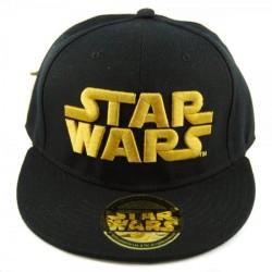 Boné Saga Star Wars Aba Reta Preto e Dourado