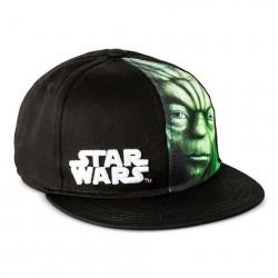 Boné Saga Star Wars Aba Reta Mestre Yoda Preto