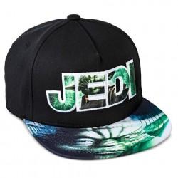 Boné Saga Star Wars Aba Reta Jedi Mestre Yoda Preto