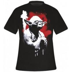 Camiseta Masculina Star Wars Mestre Yoda Preta
