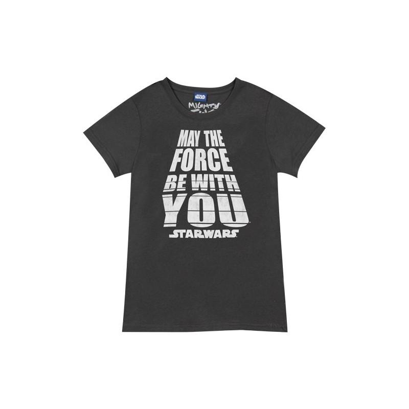 Camiseta Masculina Star Wars Que A Força Esteja com Você Preta