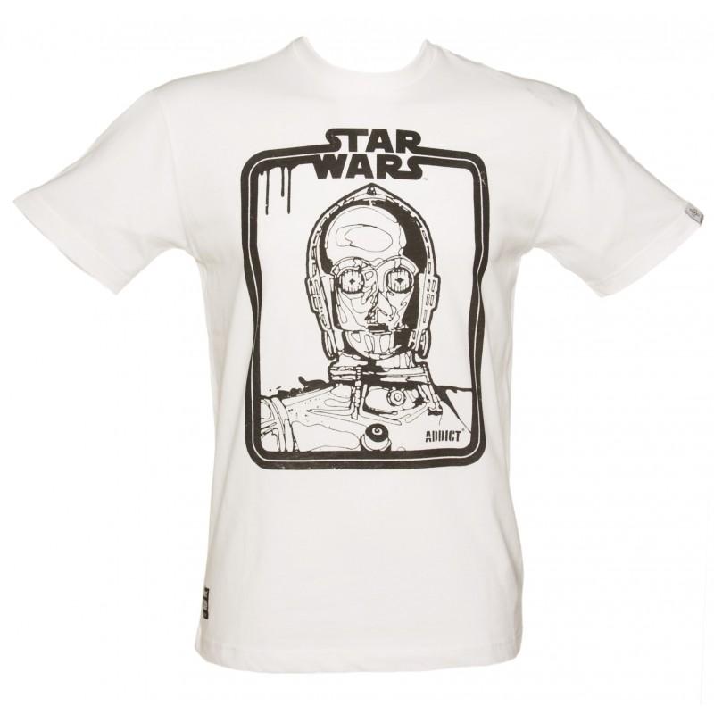 Camiseta Masculina Star Wars C3PO Branca