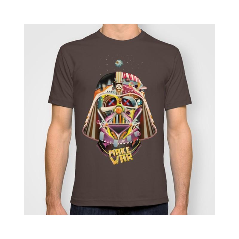 Camiseta Masculina Star Wars Darth Vader Marrom