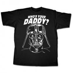 Camiseta Masculina Star Wars Darth Vader Quem é seu pai? Preta